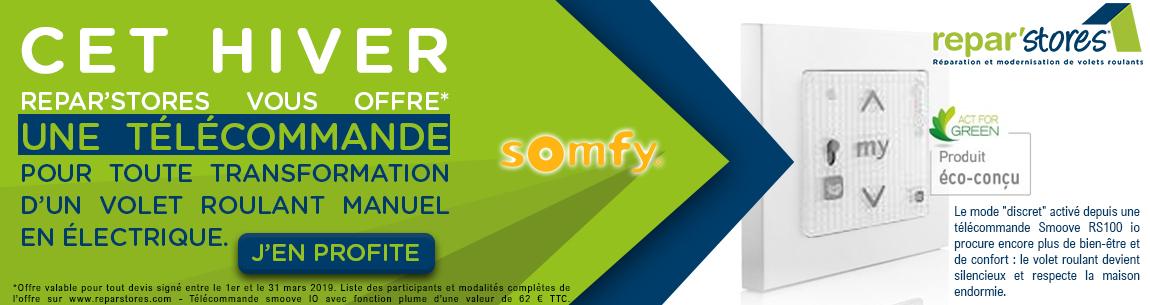 Une télécommande Somfy offerte cet hiver !